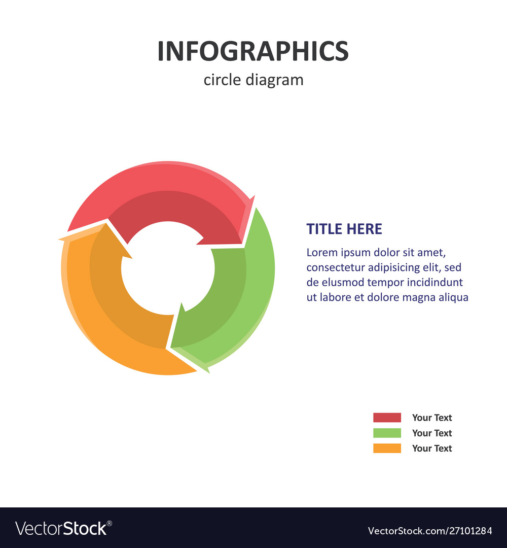 Circle diagram pie diagram 3d infographics