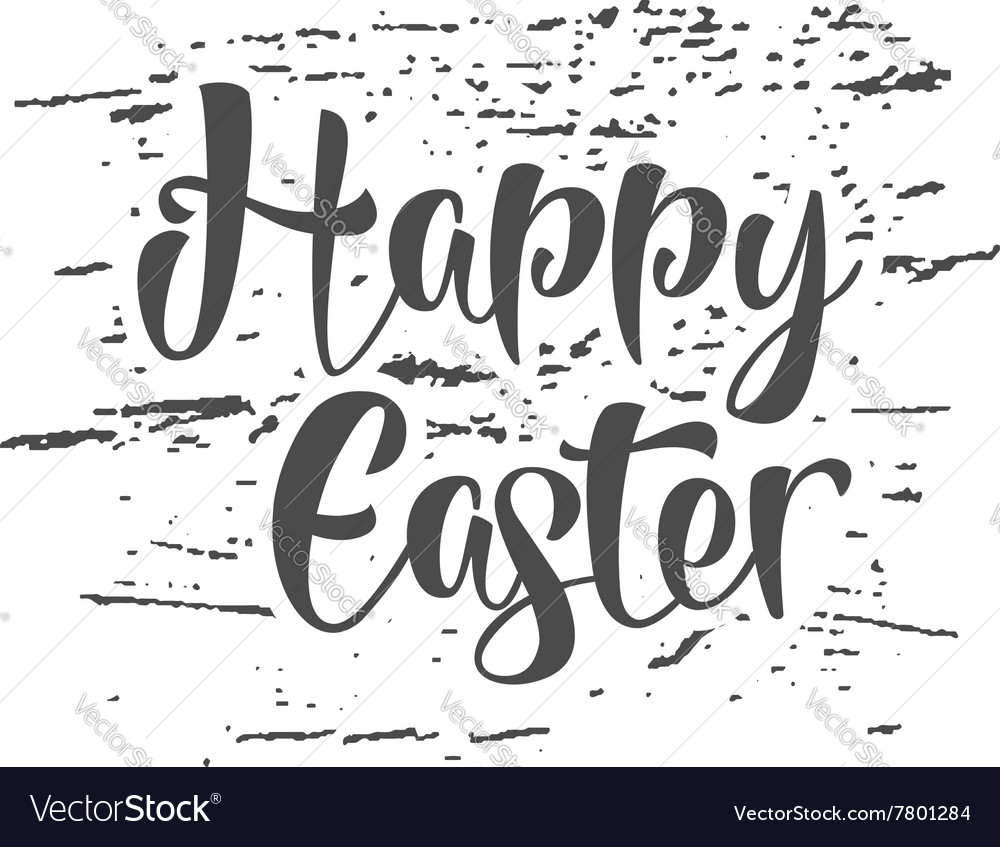 Easter grunge sign - Happy Easter Easter wish vector image