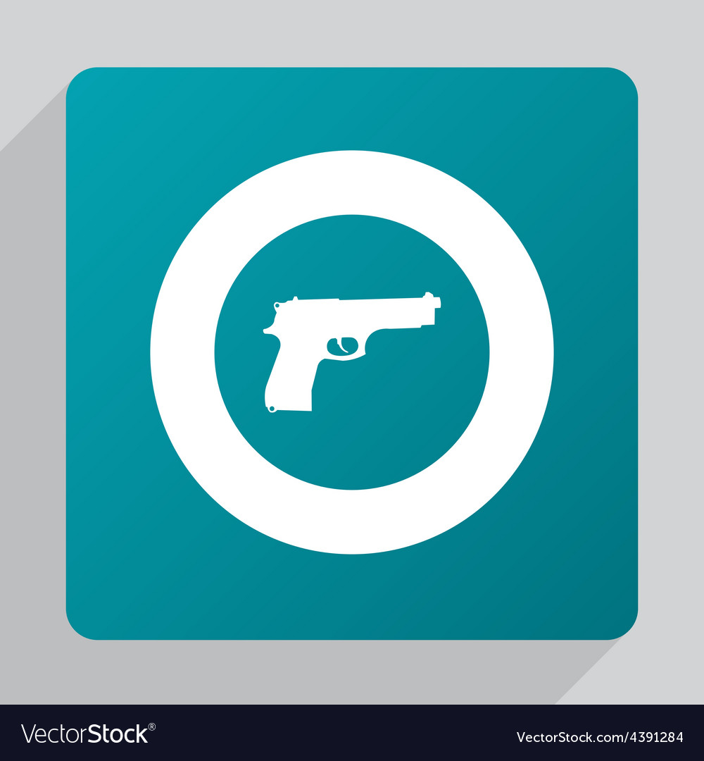 Flat gun icon