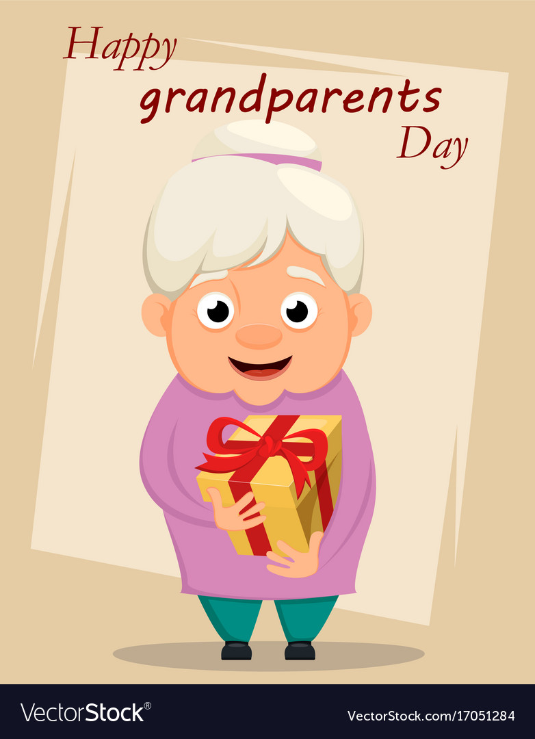 Grandparents day greeting card grandmother vector image m4hsunfo