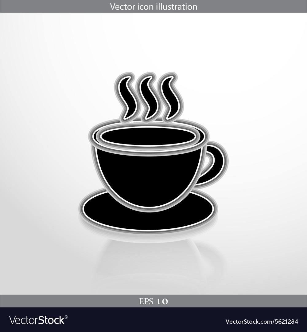 Hot drink web icon vector image