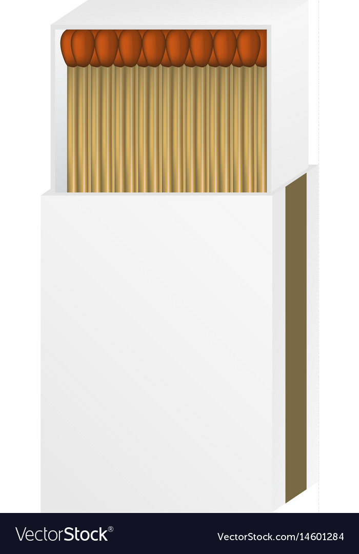 Open matchbox with a blank top