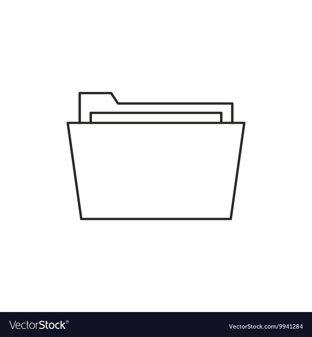 Outline document folder icon