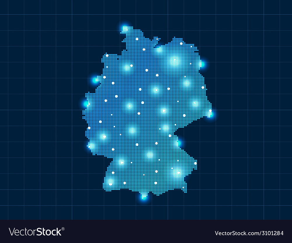 Pixel Germany map with spot lights