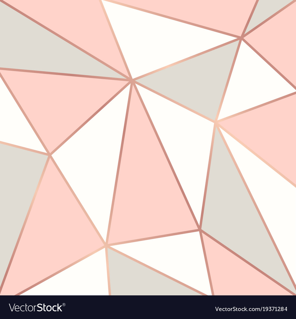Polygonal background with rose gold frames