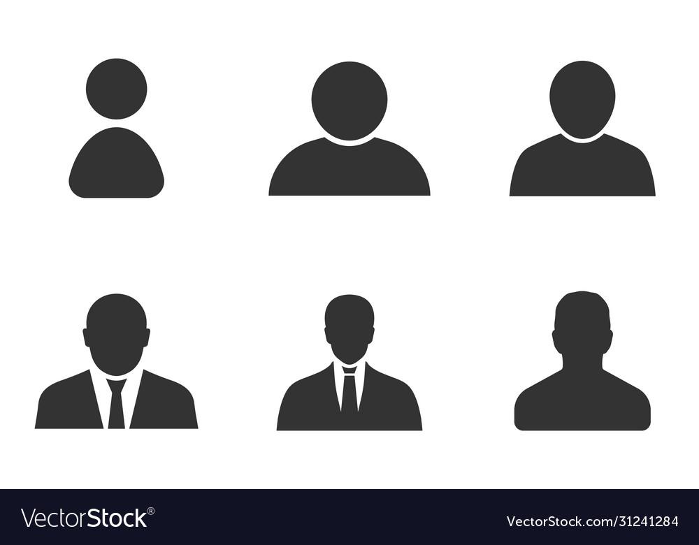 Profile icon set user sign in profile avatar