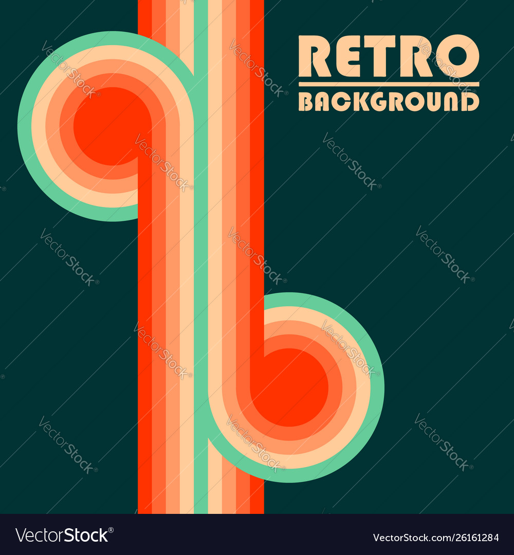 Retro design background with colored twisted