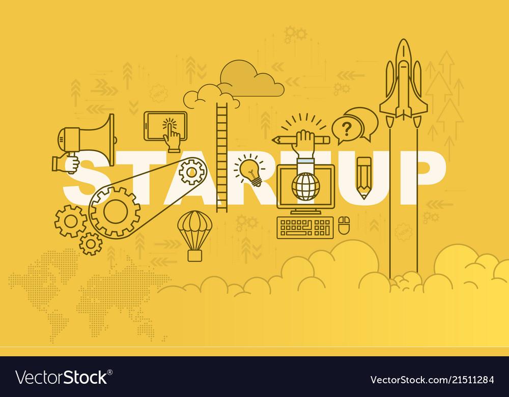 Startup banner background design concept