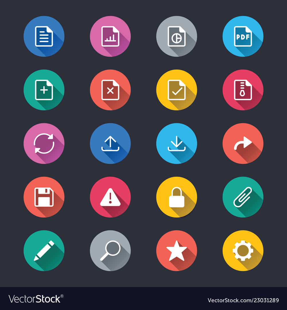 Document simple color icons
