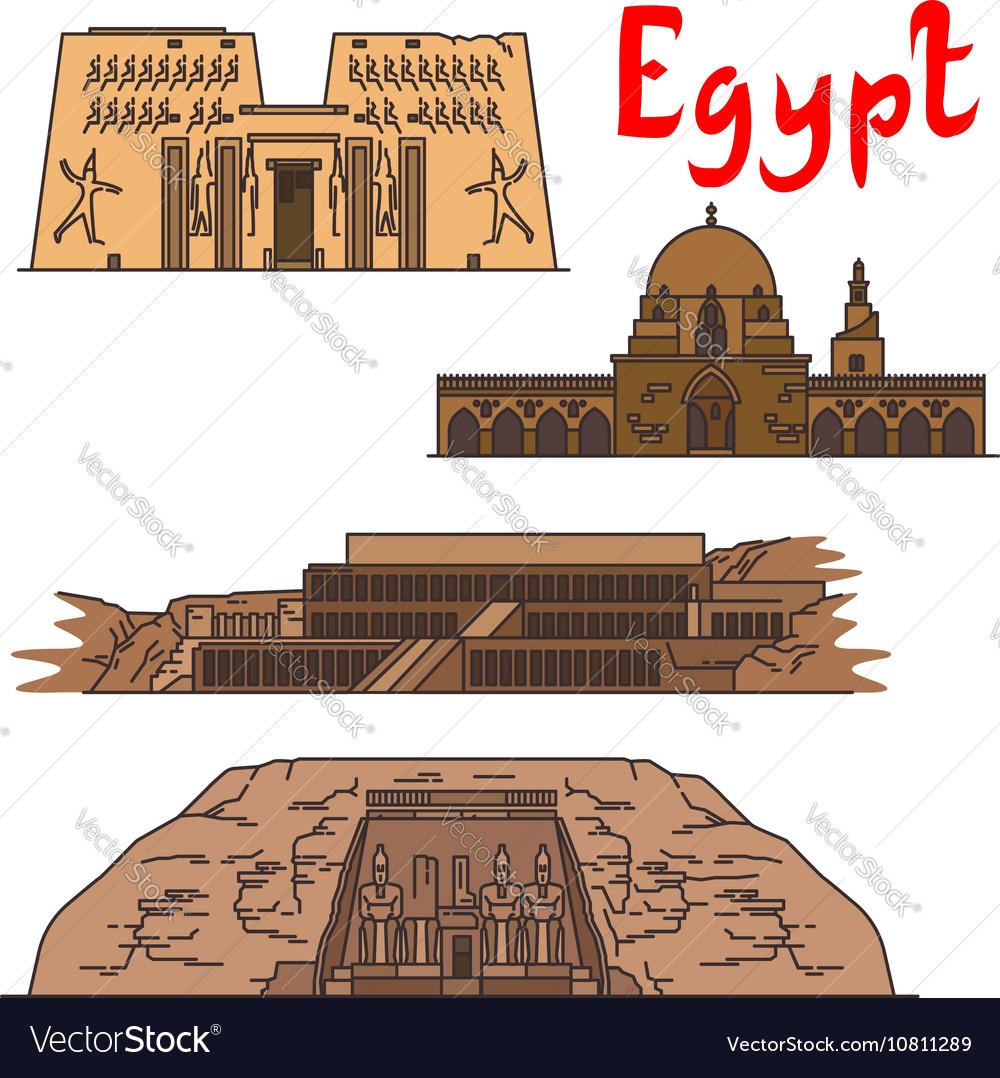 Egypt historic landmarks and sightseeings
