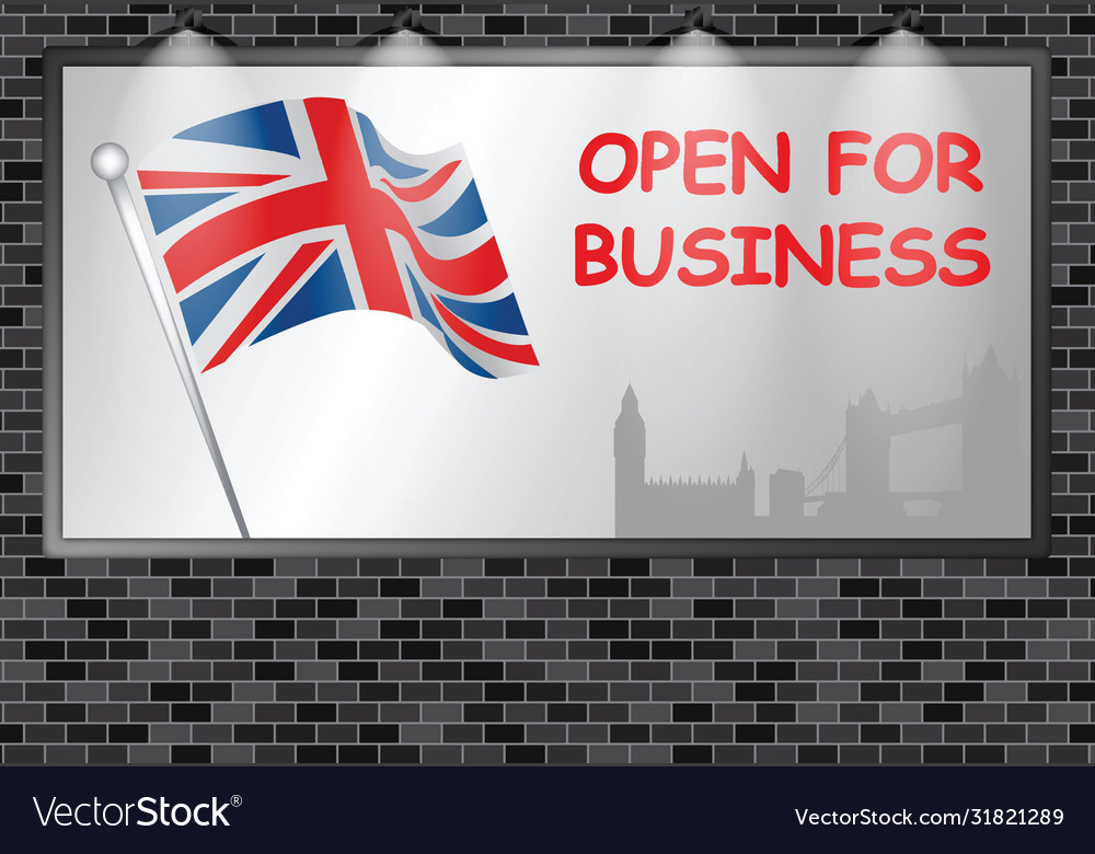 Illuminated advertising billboard uk open business