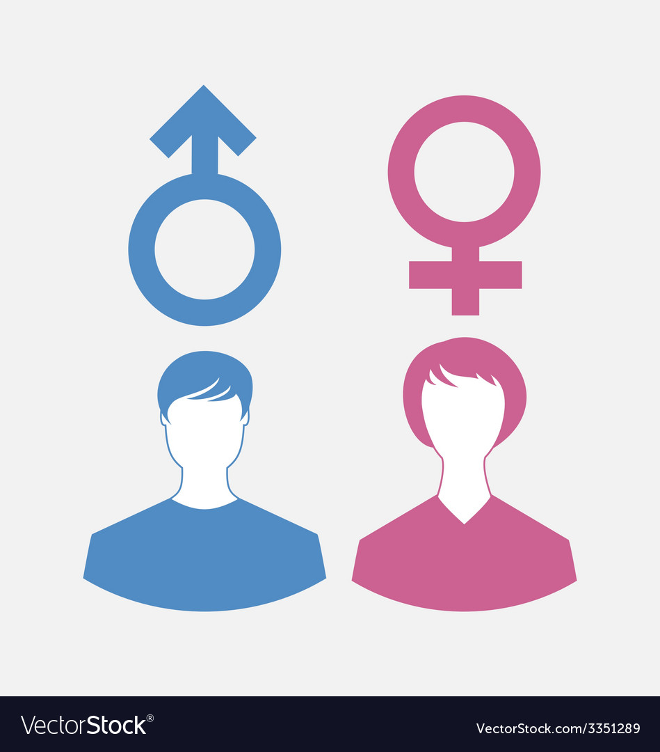 Male And Female Icons Gender Symbols Royalty Free Vector