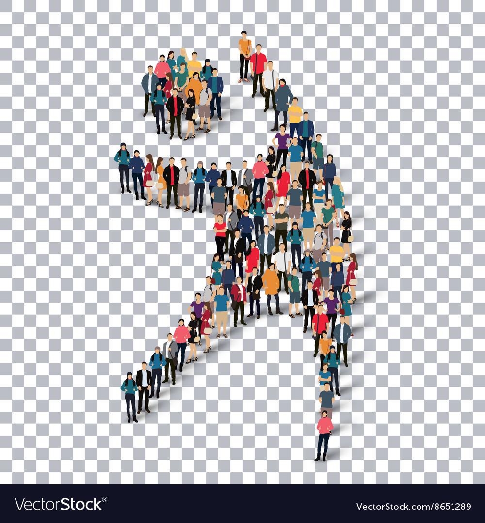 Man symbol people 3d Transparency
