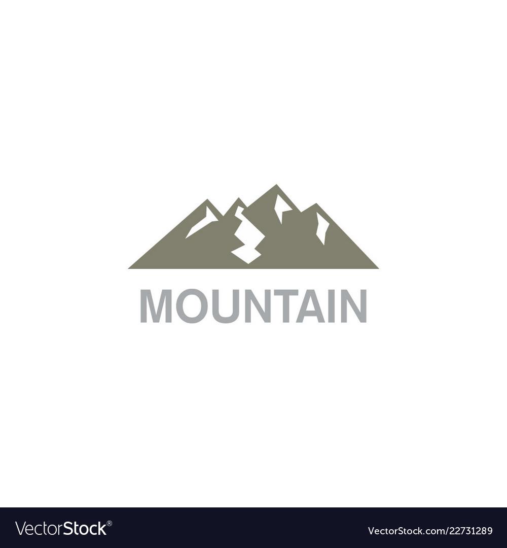 Mountain nature landscape logo