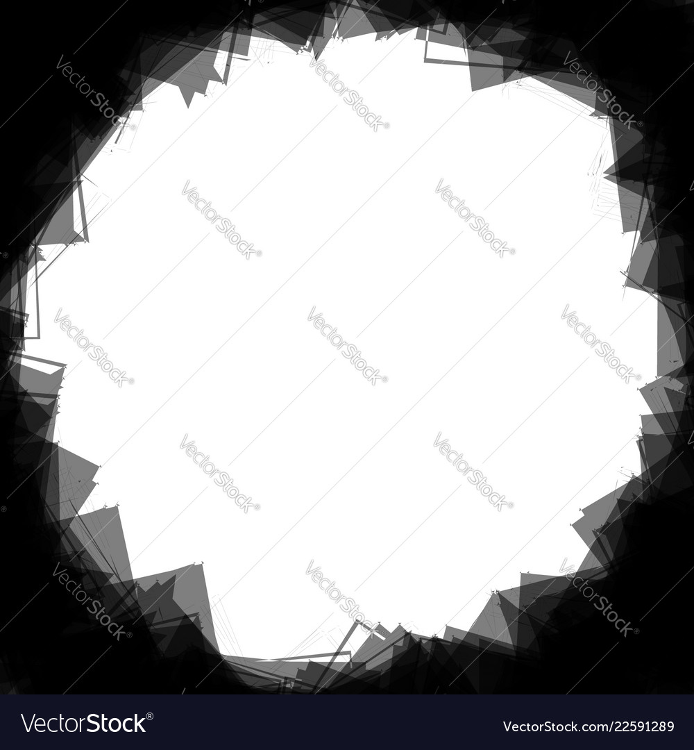 Random scattered shapes can be used as a frame or Vector Image
