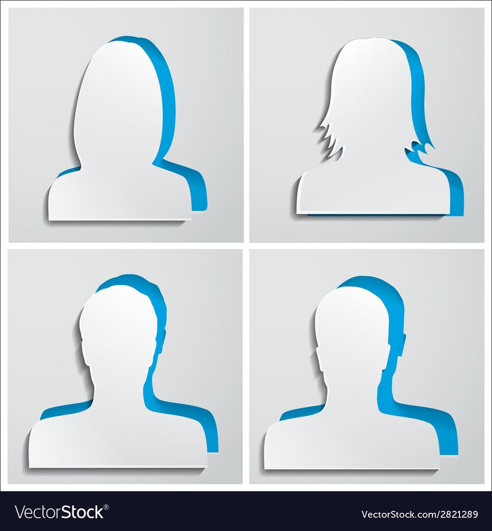 Set of paper avatars