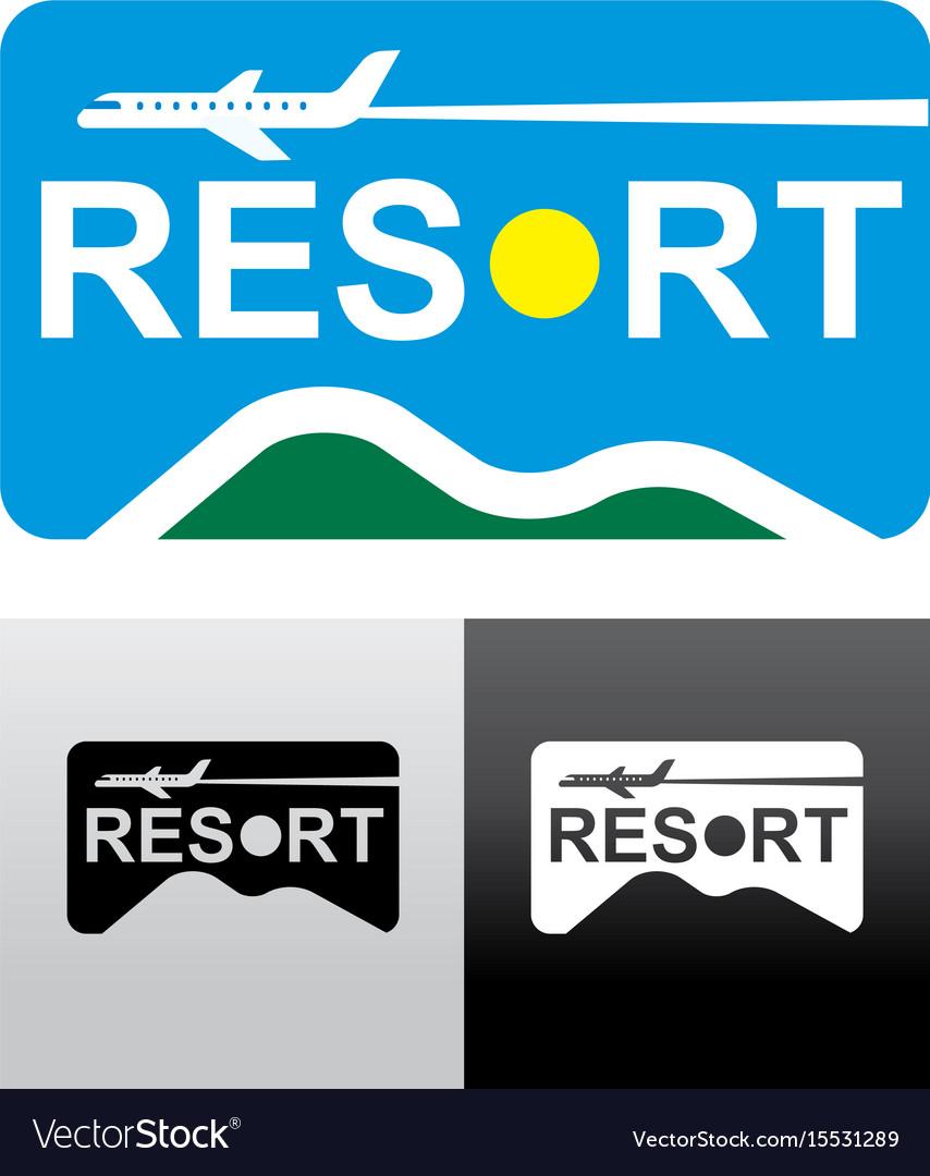 Travel and resort logo vector image
