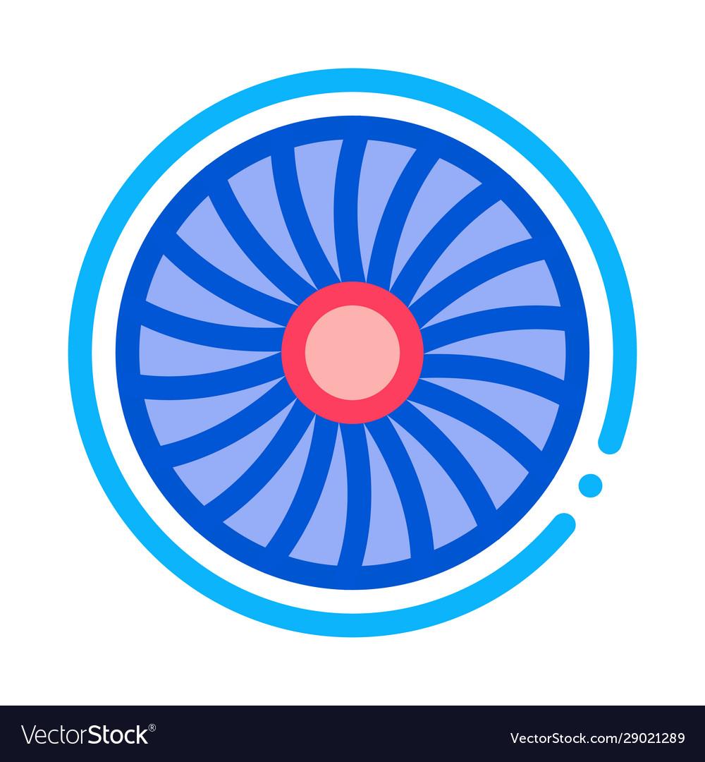 Turbine engine icon outline