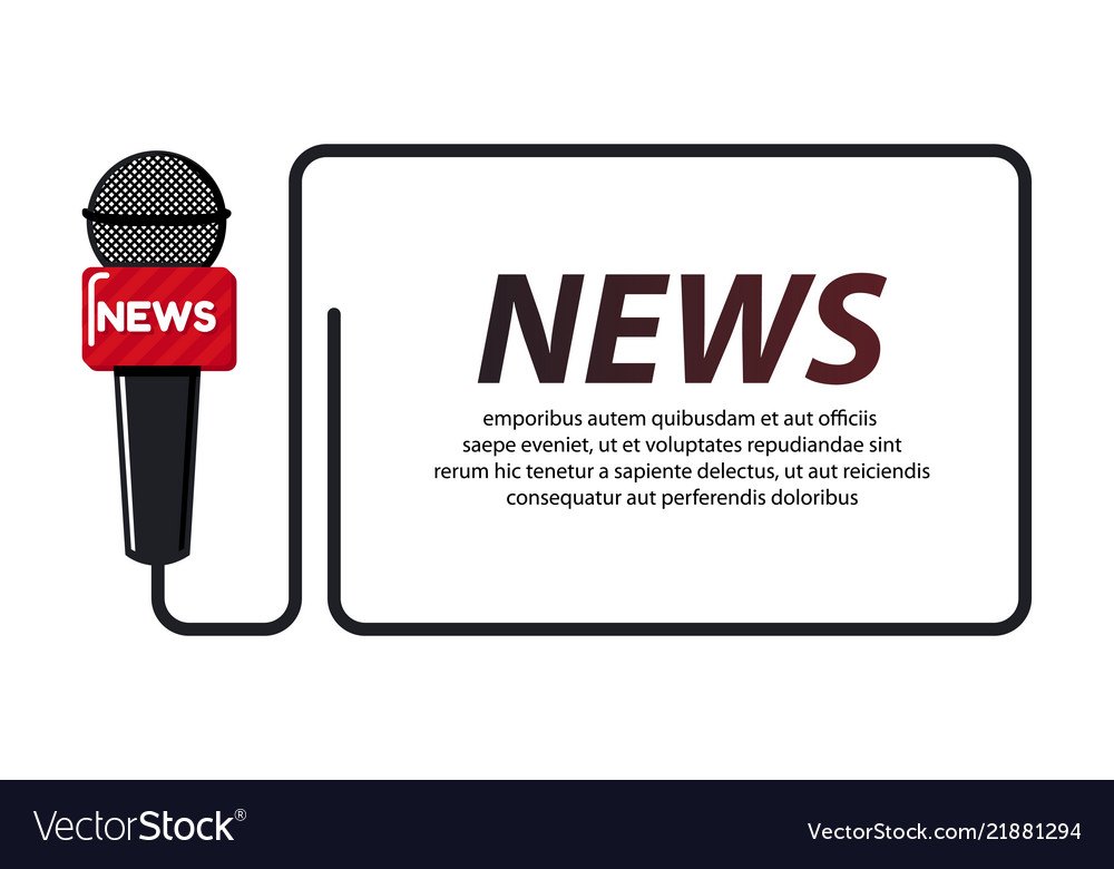 Breaking news concept with quote for news channels