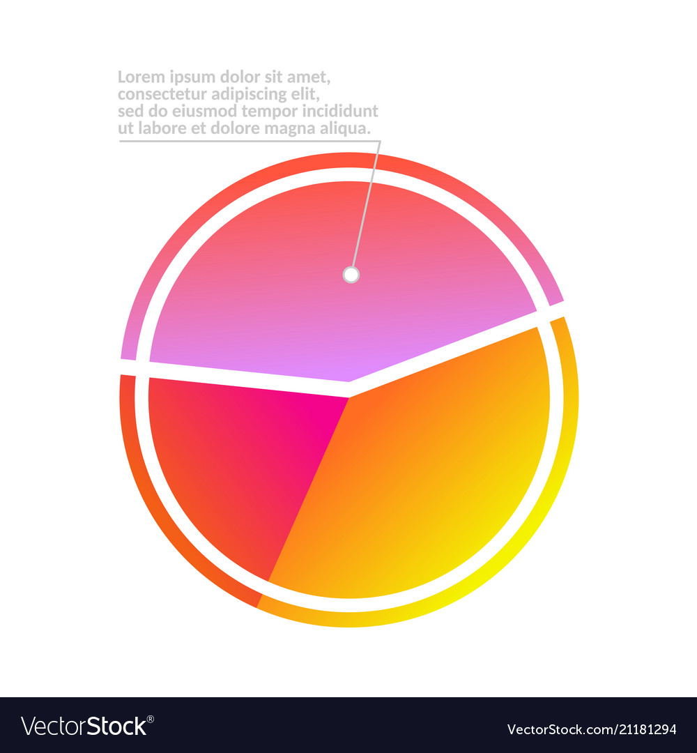 business pie chart infographic with three shares vector image