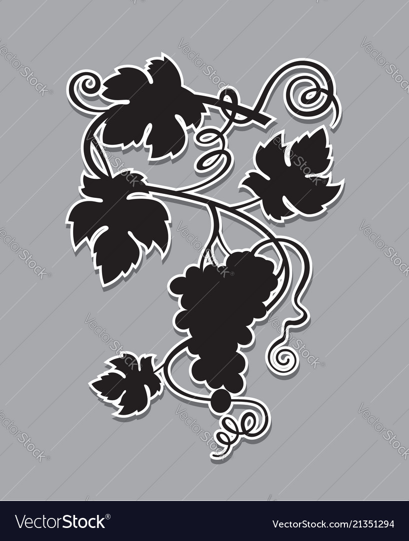 Grapes bunches silhouette