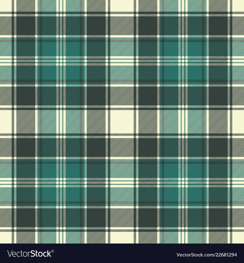 Green plaid fabric texture seamless pattern