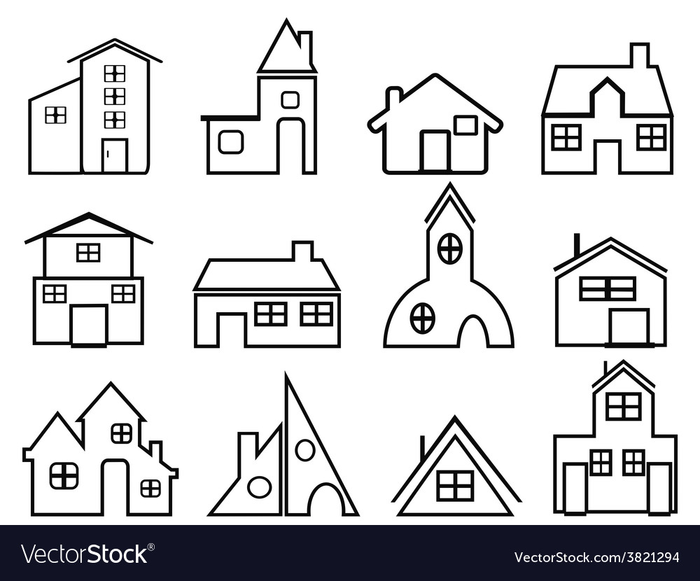 House outline icons