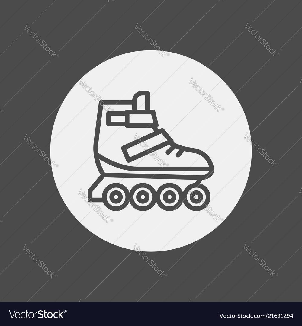 Roller skate icon sign symbol