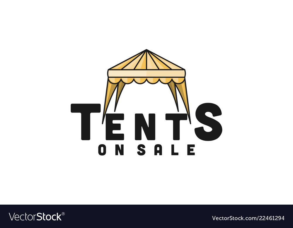 Tent sale promotion logo design inspiration
