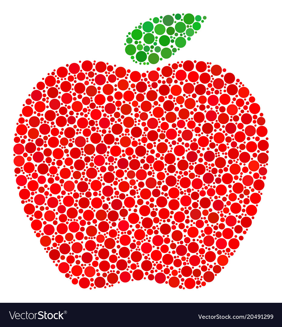 Apple Collage Of Filled Circles Vector Image