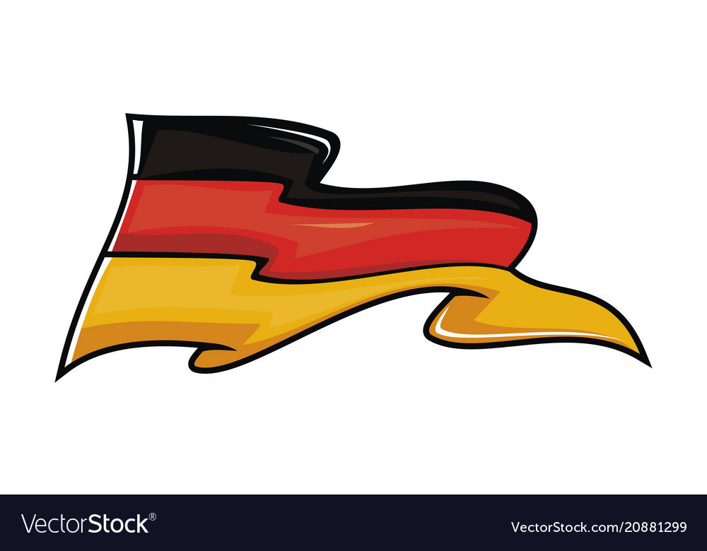 Germany flag logo design template