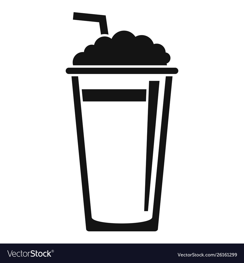 ice coffee cup icon simple style royalty free vector image vectorstock