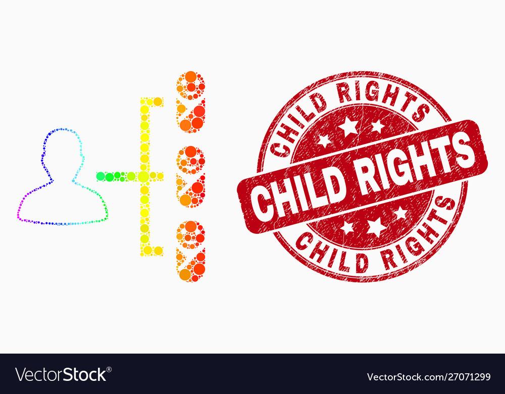 Rainbow colored dot newborn parent links
