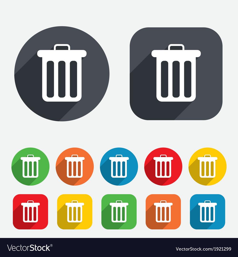 Recycle bin sign icon Bin symbol
