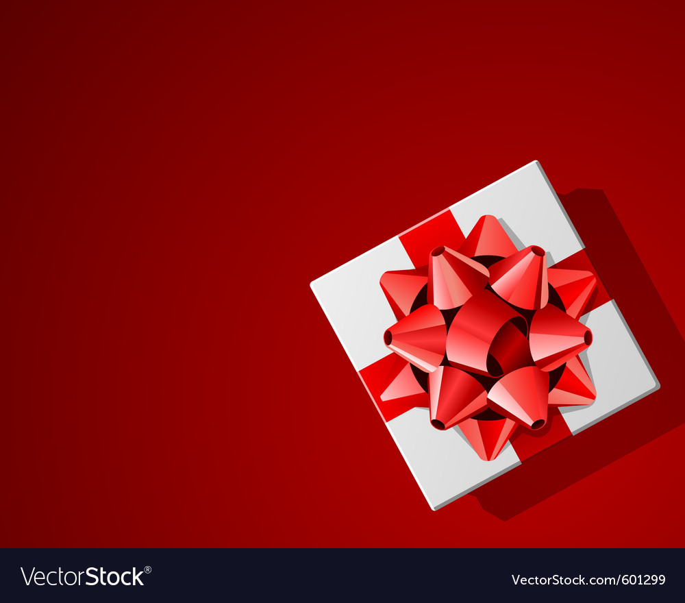 Red present background