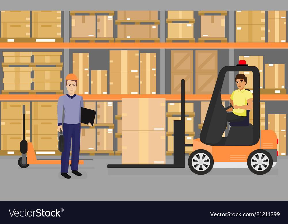 Warehousing goods and