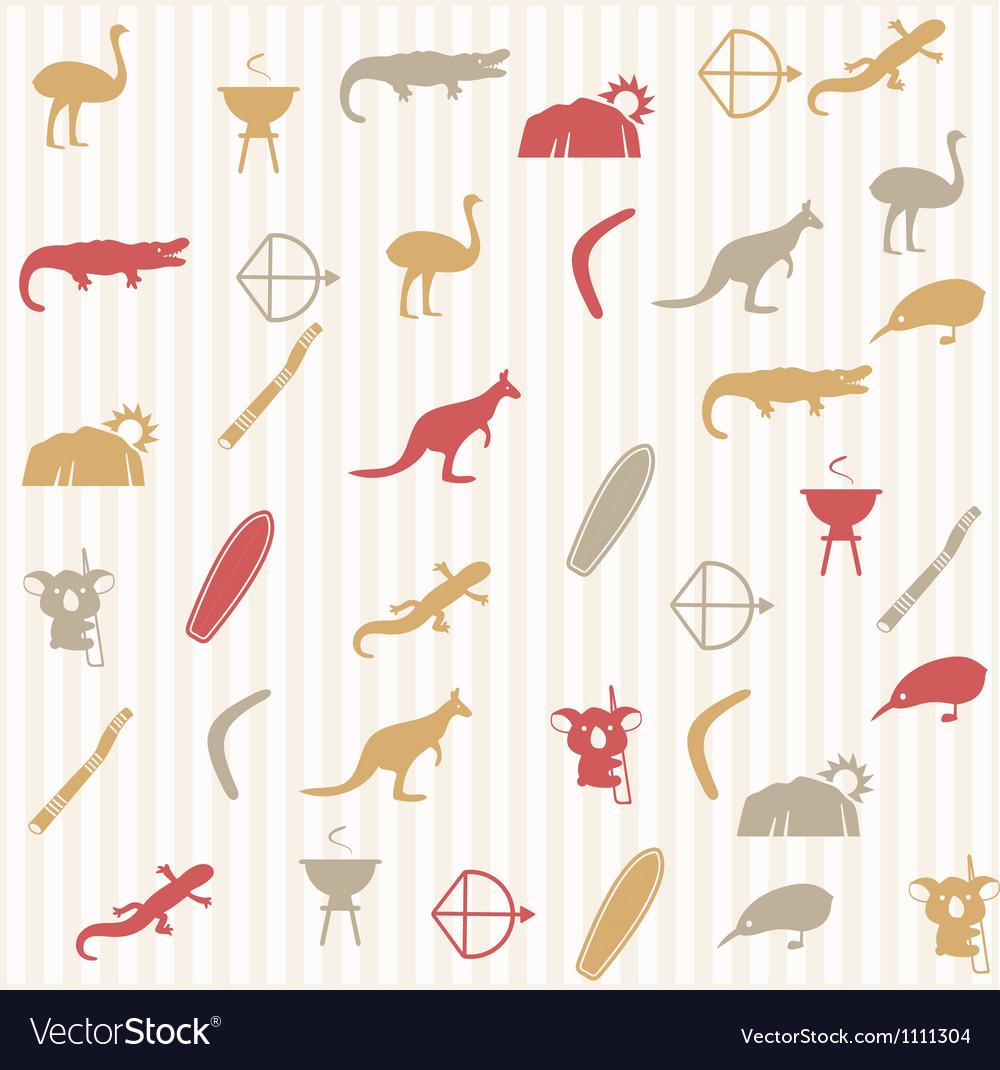 Australian seamless pattern