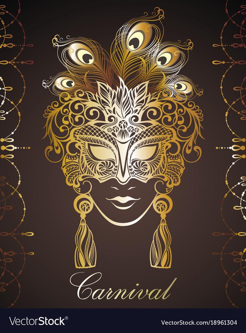Beautiful mask of lace