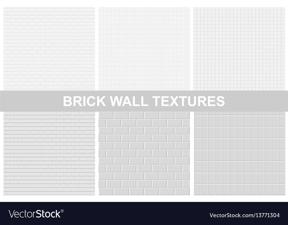 Brick wall textures - seamless vector image