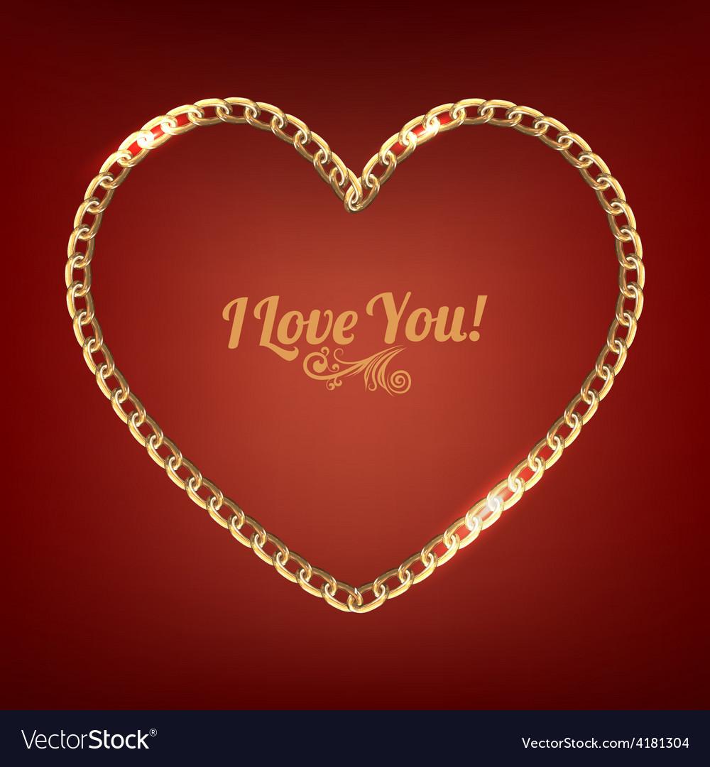 Chain heart vector image