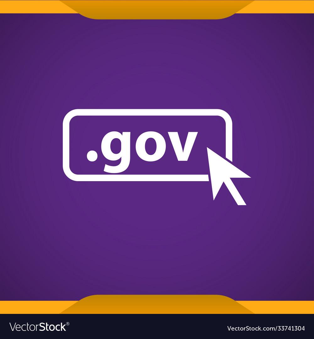 Domain gov icon top-level internet