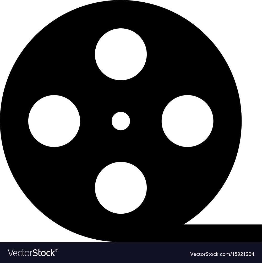 Film strip black color icon vector image