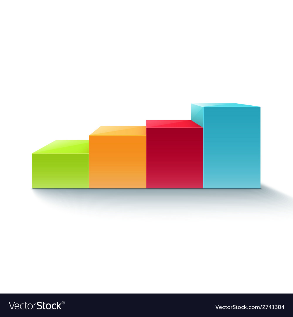 Infographic colorful chart diagram vector image