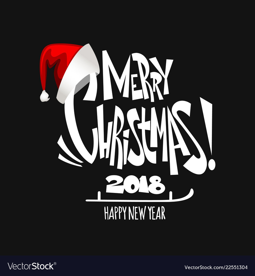 Merry christmas lettering christmas holidays