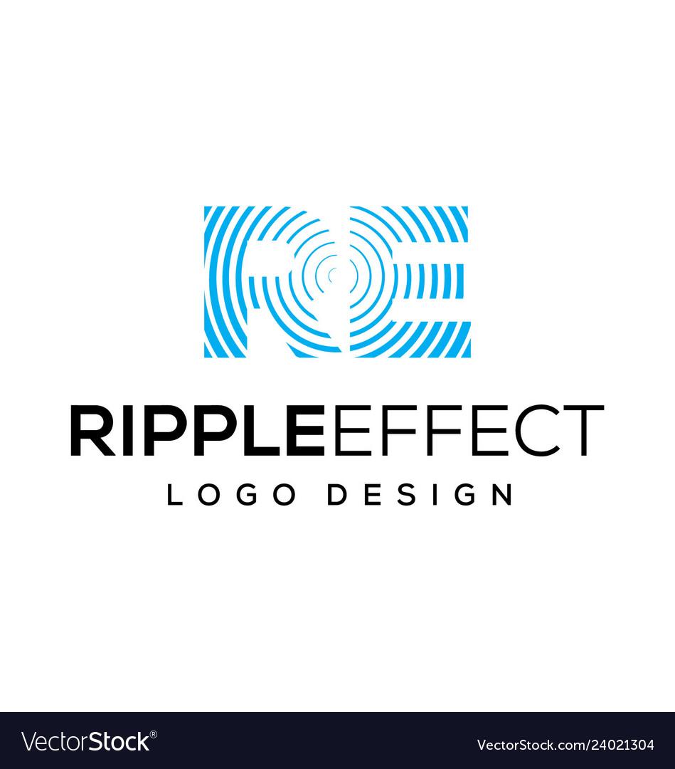 Ripple effect logo design inspiration