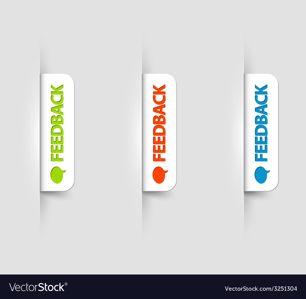White feedback Labels Tags on the web page vector image