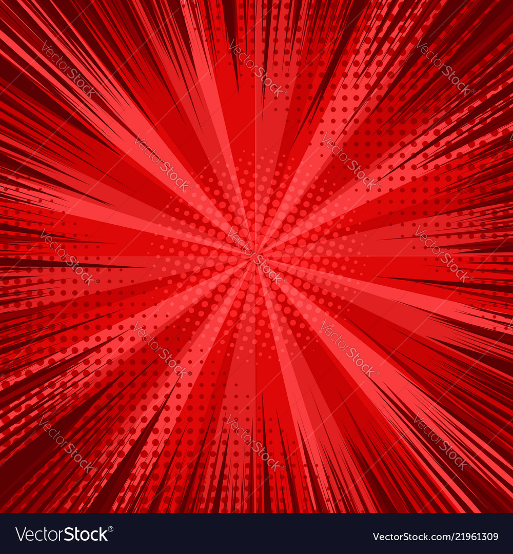 Abstract comic bright red background