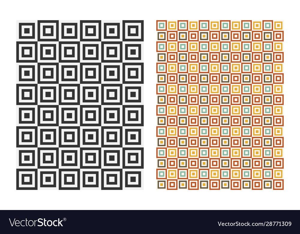 Abstract geometric retro pattern vintage design
