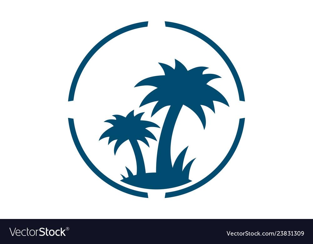 Abstract palm tree logo icon