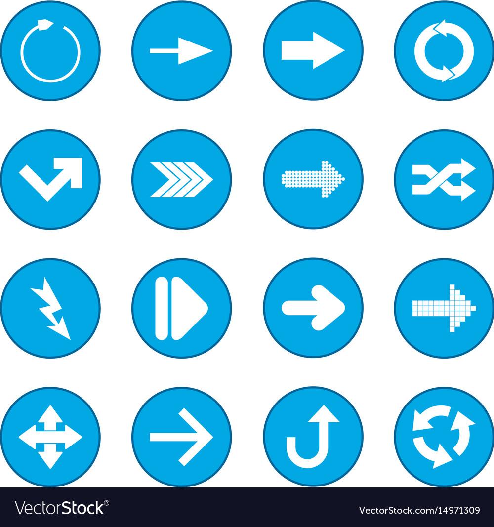 Arrow sign black icon blue